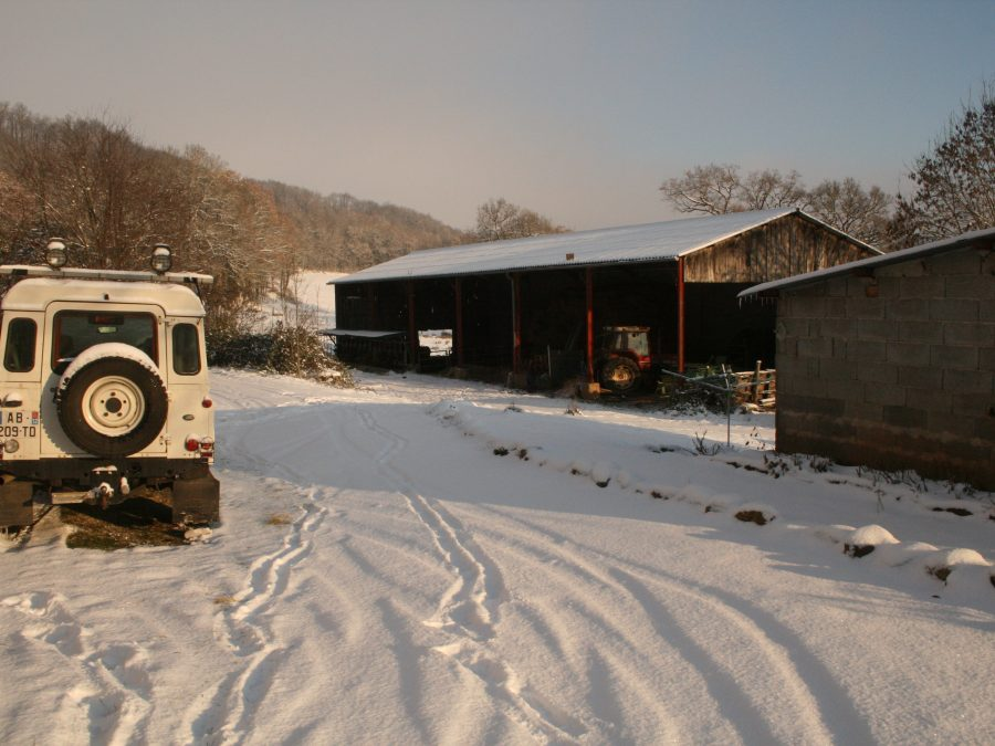 the farm in winter