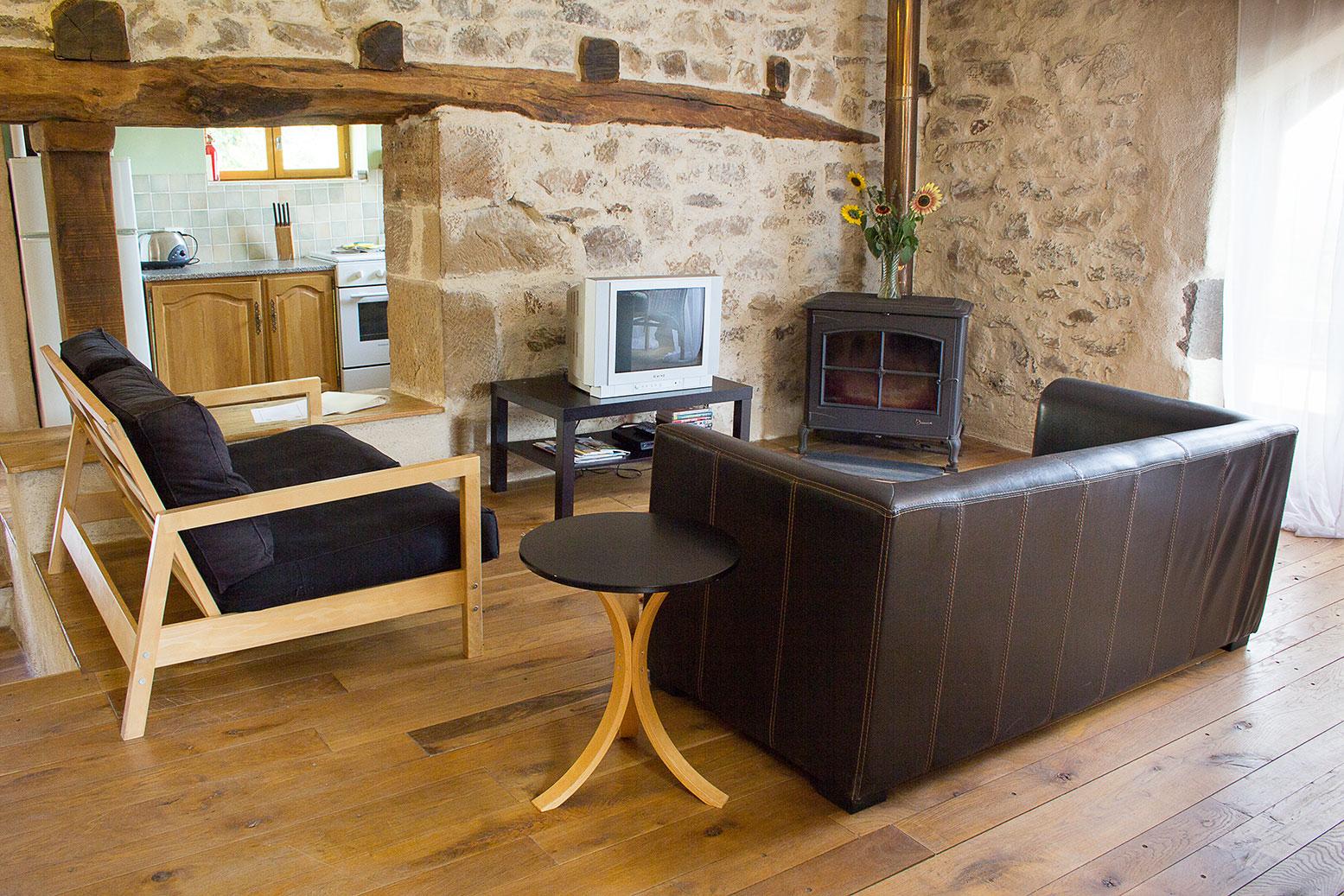 gîte livingroom