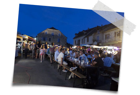 holiday activity - the Najac night market