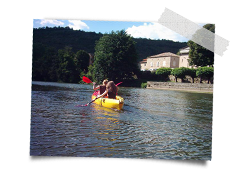canoing in Najac